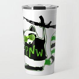 PNW Rebel Raccoon AK47 Travel Mug