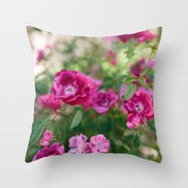 Flowers X // California Throw Pillow