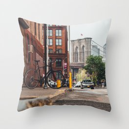 Crossing the divide Throw Pillow