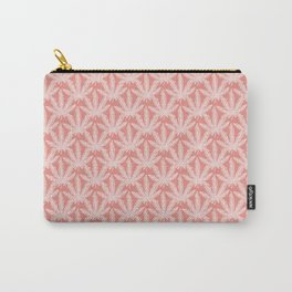 cannabis leaf print pink Carry-All Pouch