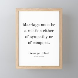 4 | George Eliot Quotes | 210226 | Framed Mini Art Print