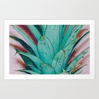 pinapple Art Prints featuring Pinapple by 83 Oranges™