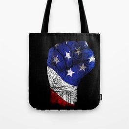America Fist American Flag design Gift for USA Patriots Tote Bag