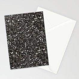 Gray Hematite Close-Up Crystal Stationery Cards