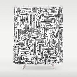 Horns B&W II Shower Curtain