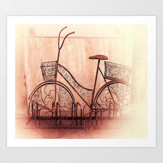 flower bycicle Art Print