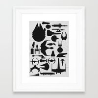 sci fi Framed Art Prints featuring Famous Sci Fi Ships by Ewan Arnolda