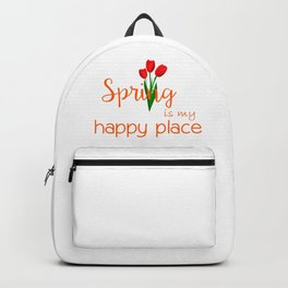 Spring is my happy place Backpack