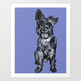 Rupert the Miniature Schnauzer Art Print