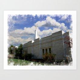 Birmingham Alabama LDS Temple Art Print