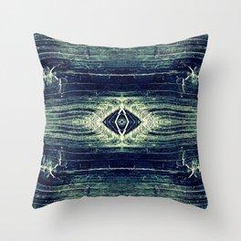 DenimWood Throw Pillow