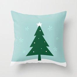 New folk artwork : xmas Tree Throw Pillow