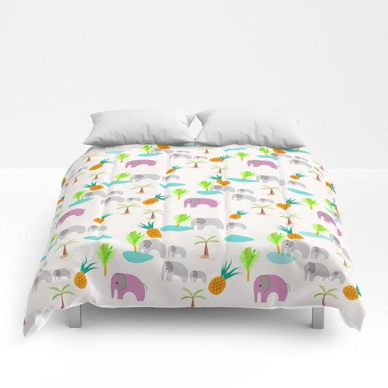 Pink Elephants Comforters