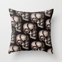 broken Throw Pillows featuring BROKEN by DIVIDUS