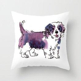 Chewie - Dog Watetcolour Throw Pillow