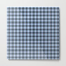 Cool Black Gingham Metal Print