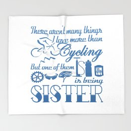 Cycling Sister Throw Blanket