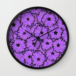 Purple floral pattern 2 Wall Clock