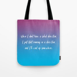 Solid Direction Tote Bag