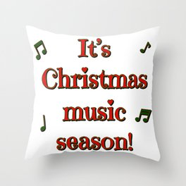 Christmas Music Season Throw Pillow