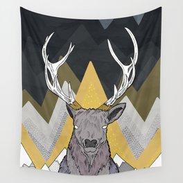Silver Deer Wall Tapestry