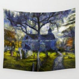 Sleepy Hollow Church Art Van Gogh Wall Tapestry