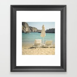 Seating under the Sun Framed Art Print