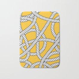 Nautical Yellow Rope Pattern Repeat Bath Mat