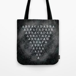 Abracadabra Reversed Pyramid in Charcoal Black Tote Bag