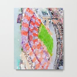Neyland Stadium - Knoxville Tennessee - Watercolor Print Metal Print