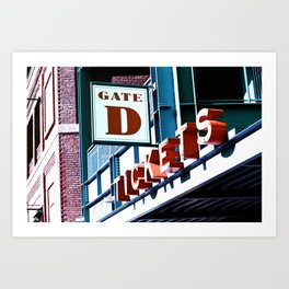 Fenway Gate D Tickets Art Print