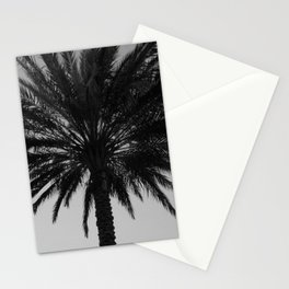 Big Black and White Palm Tree Stationery Cards