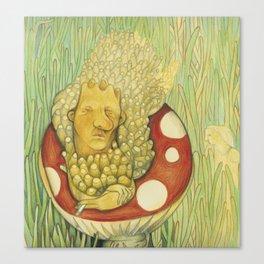 Alice in Wonderland Worm Canvas Print