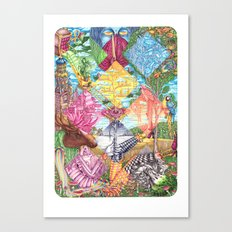 Masquerade of the leaving summer Canvas Print
