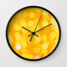Disco Fever in Yellow Wall Clock