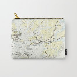 Vintage Map of Kittery Maine (1944) Carry-All Pouch