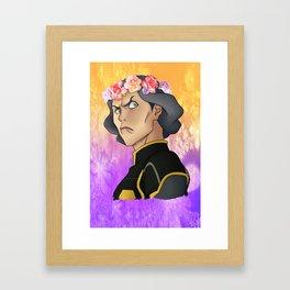Lin Beifong - Flower Crown Framed Art Print