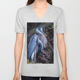 Dapper Heron Unisex V-Neck