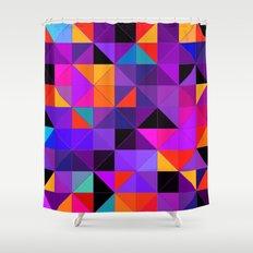 Purple and orange 2 Shower Curtain
