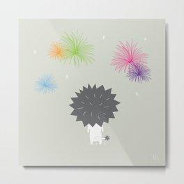 The Happy Fireworks Metal Print