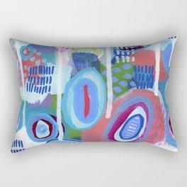 Abstract Drips Rectangular Pillow