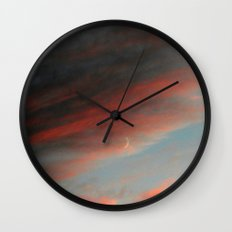 Moon and Sunset Wall Clock