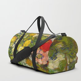 Bouquet of Flowers in a Vase Vincent van Gogh Oil on canvas 1890 Duffle Bag