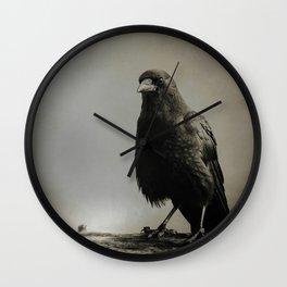 RAVEN PORTRAIT Wall Clock