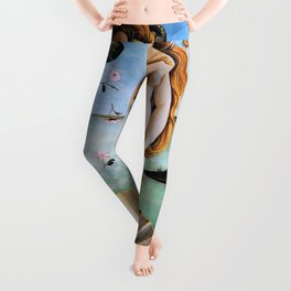 Sandro Botticelli - The Birth Of Venus - Digital Remastered Edition Leggings
