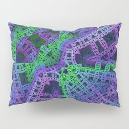 Green and purple film ribbons Pillow Sham