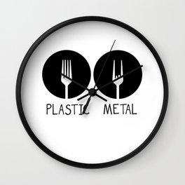 Metal French Fry Fork Devil Horns Festival Gift Wall Clock