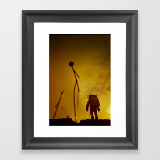 Close encounter (of the Third Kind) Framed Art Print