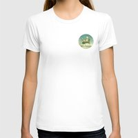 never stop exploring T-shirts featuring Never Stop Exploring by Monika Strigel