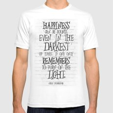 Albus Dumbledore Quote Inspirational White LARGE Mens Fitted Tee